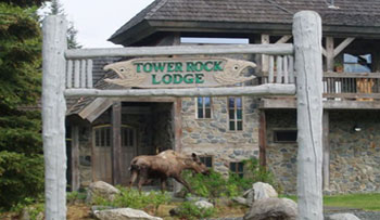 Outside Front View of Tower Rock Lodge
